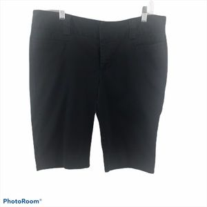A.N.A. Shorts Bermuda Sz 10  Wide Waist Band Black